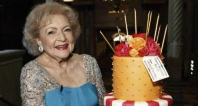 Betty at her 90th Birthday celebration last year. Pic: hollywire.com